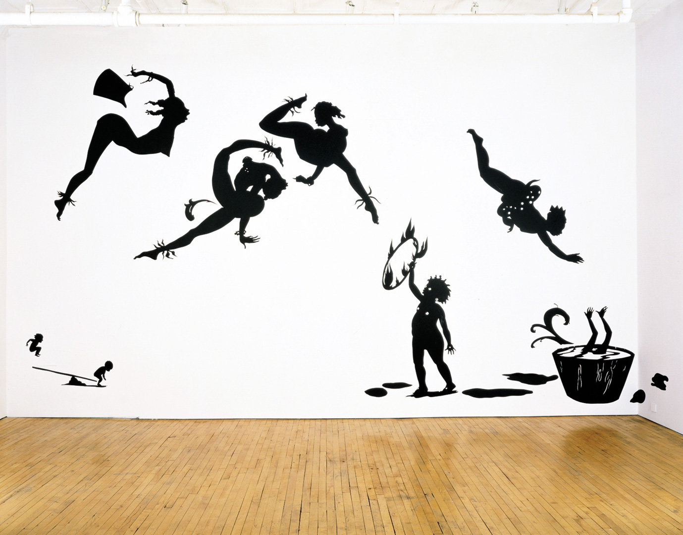 Kara Walker - Danse de la Nubienne Nouveaux, 1998, cut paper on wall