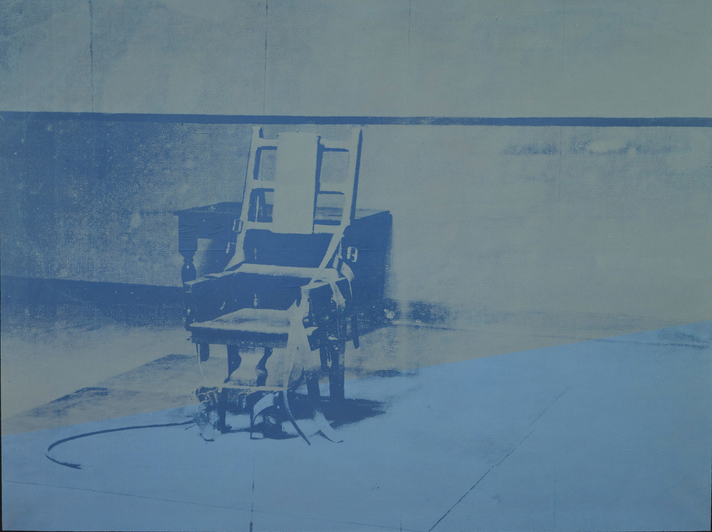 Andy Warhol - Big Electric Chair, 1967-68, acrylic and silkscreen ink on linen