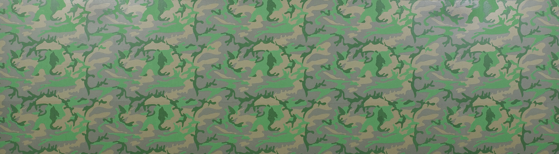 Andy Warhol - Camouflage, 1986, acrylic and silkscreen ink on canvas