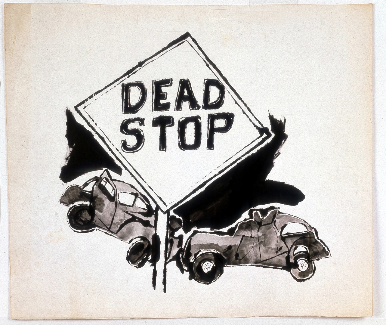 Andy Warhol - Dead Stop, 1958, ink on paper