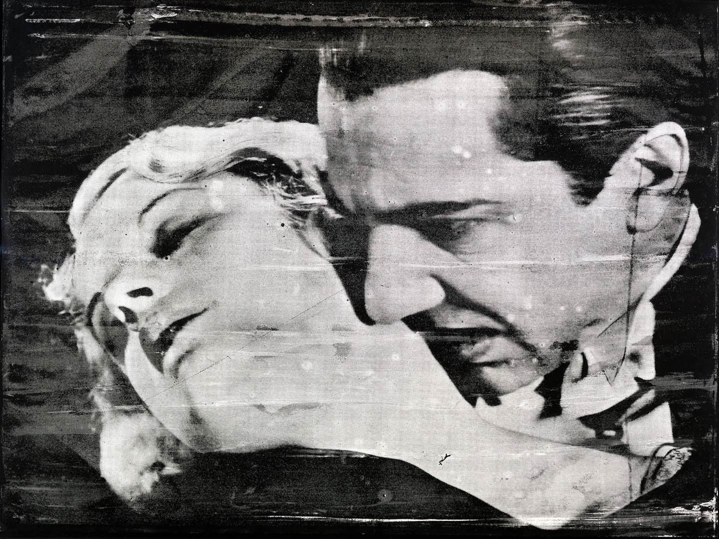 Andy Warhol - The Kiss (Bela Lugosi), 1963, screenprint on paper