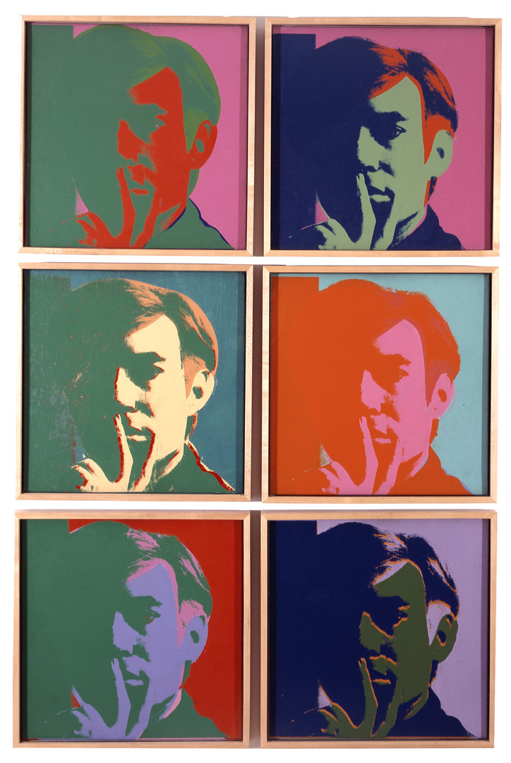 Andy Warhol - Self Portrait, 1966, acrylic, silkscreen ink, pencil and ballpoint pen on linen