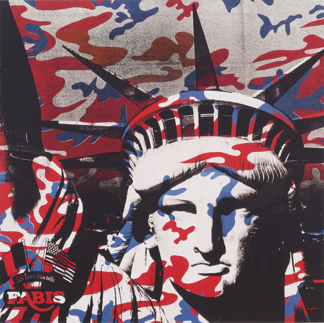 Andy Warhol - Statue of Liberty (Fabis) , 1986, acrylic and silkscreen ink on canvas