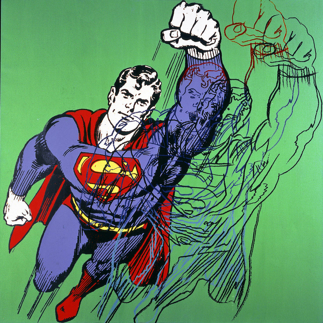Andy Warhol - Superman (Myth Series), 1981, acrylic and silkscreen ink on canvas