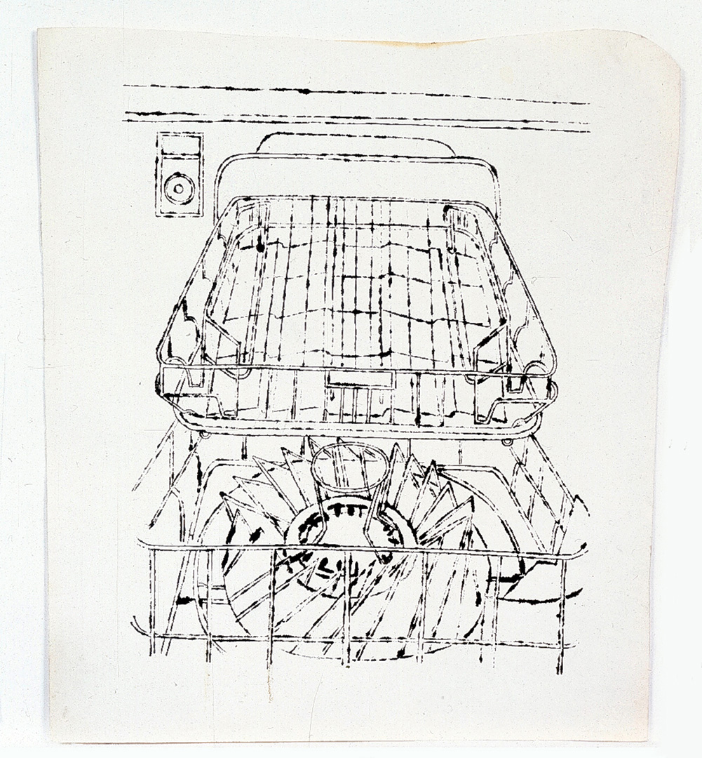 Andy Warhol - Dishwasher , 1960, ink on paper