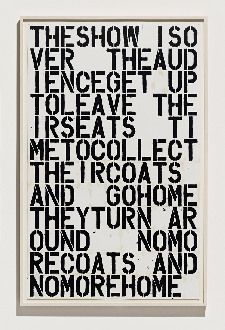 Christopher Wool - Untitled, 1991, enamel on paper