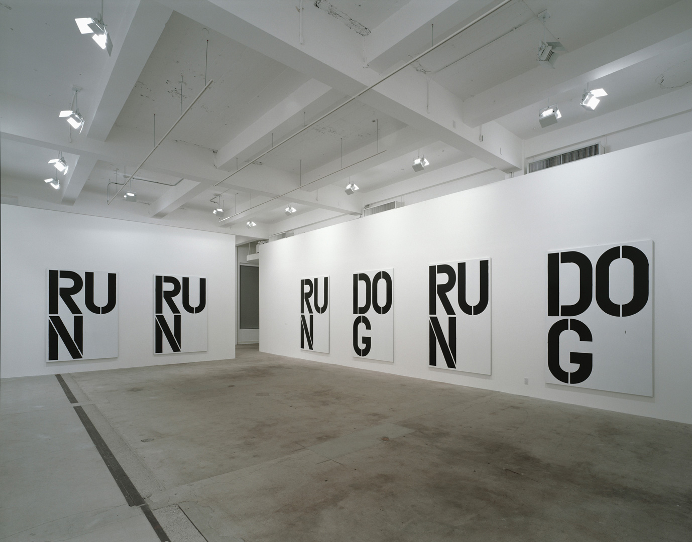 Christopher Wool - Untitled, 1990, enamel and acrylic on nine aluminum panels