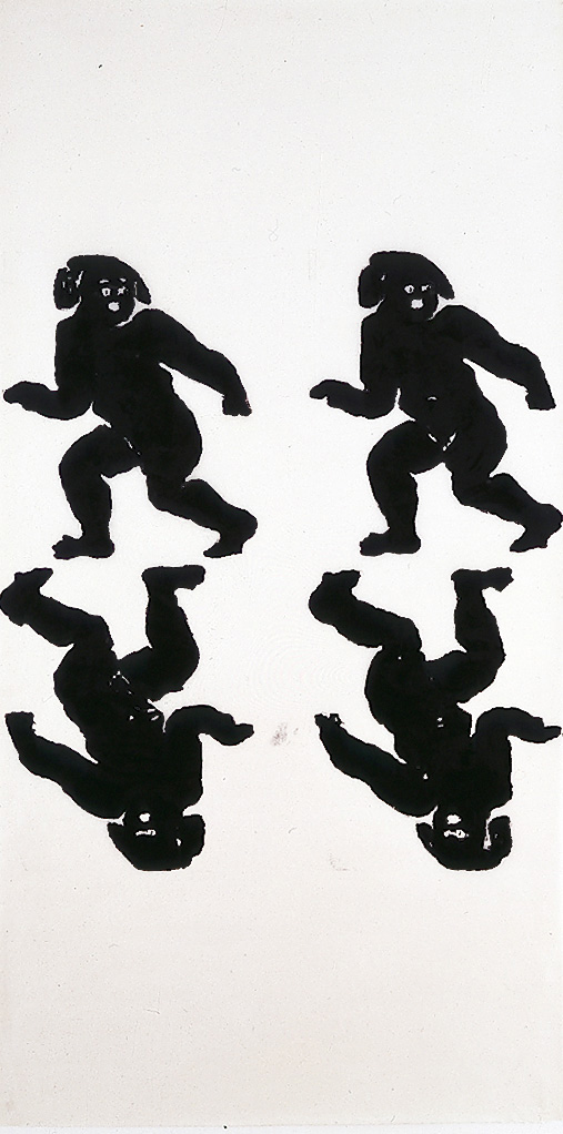 Christopher Wool - Untitled, 1990, enamel on rice paper