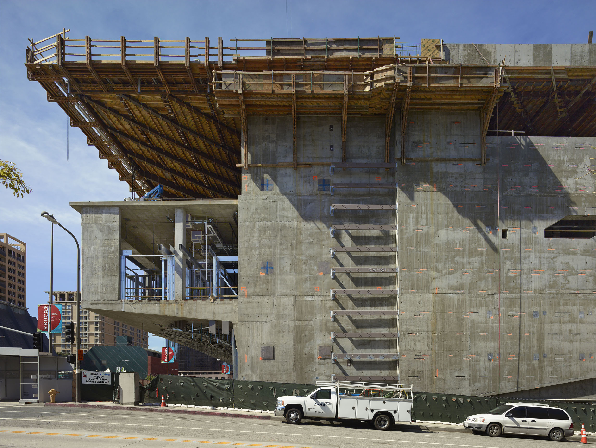 Side view of The Broad under construction; photo by Benny Chan, 5/12/13