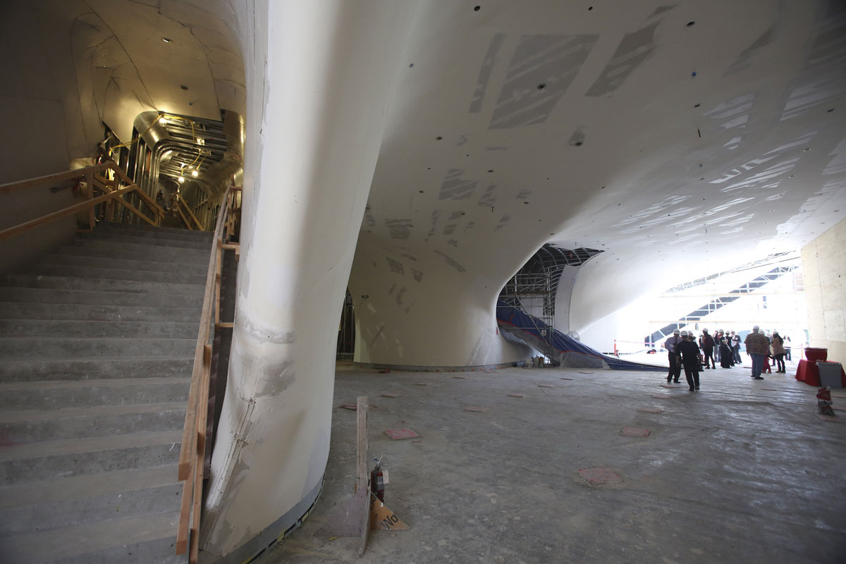 The Broad lobby under construction; photo by Ryan Miller/Capture Imaging, 9/17/13