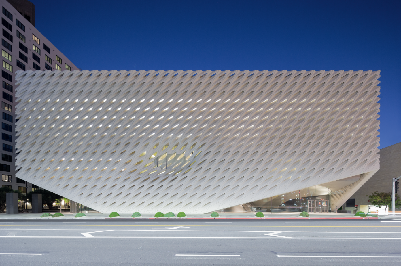 The Broad facade photo by Iwan Baan