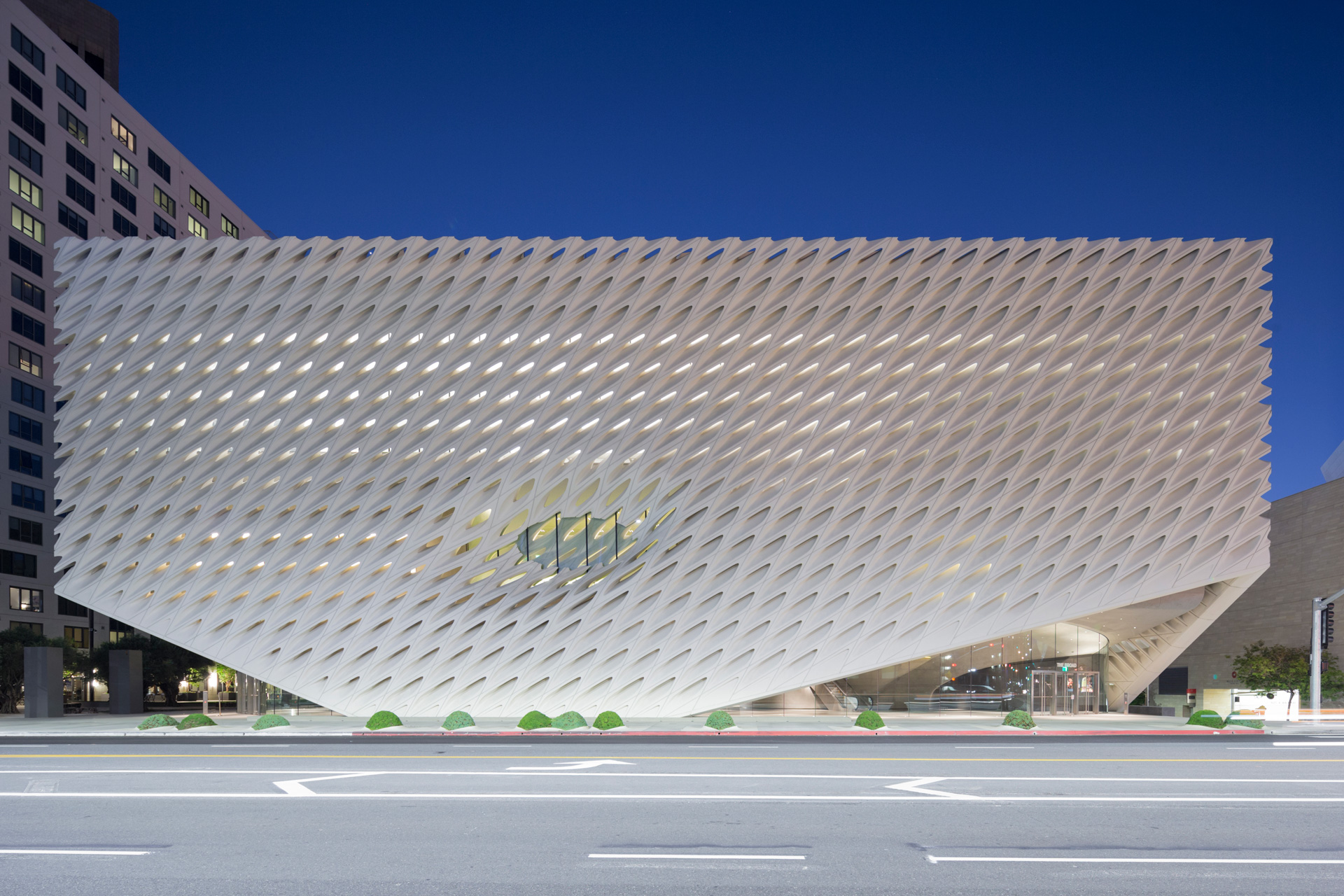 The Broad Museum, On Grand Avenue In Downtown Los Angeles; Photo By Iwan  Baan
