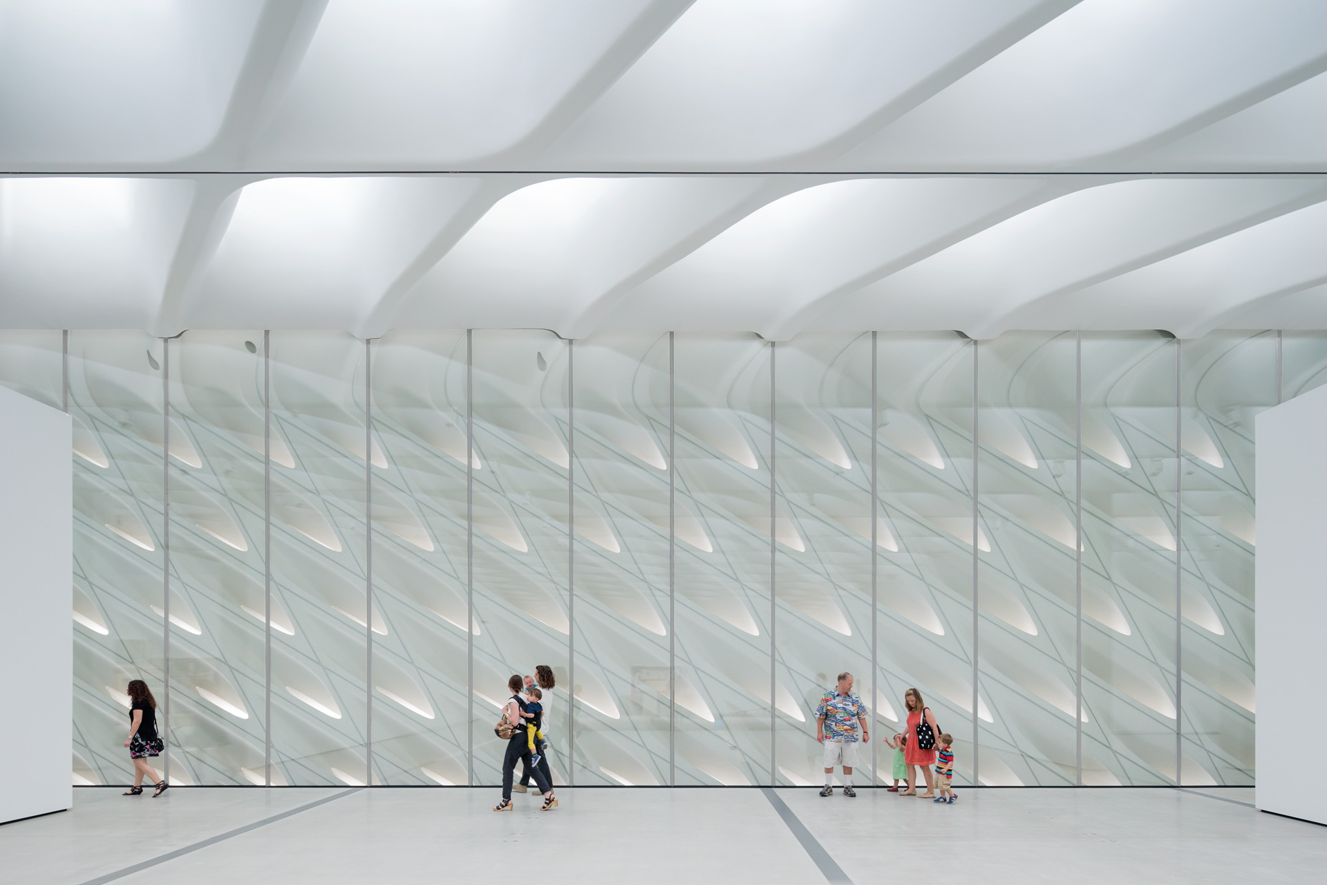 The Broad Museumu0027s Third Floor Galleries With Skylights And Interior Veil;  Photo By Iwan Baan