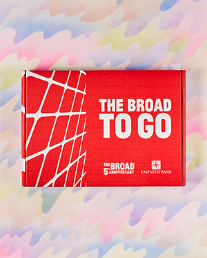 The Broad To Go Art Kit closed