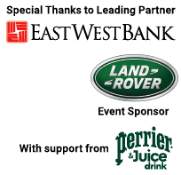 Special Thanks to Leading Partner East West Bank and Event Sponsor Land Rover with support from Perrier & Juice