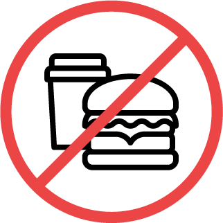 no food or beverages icon
