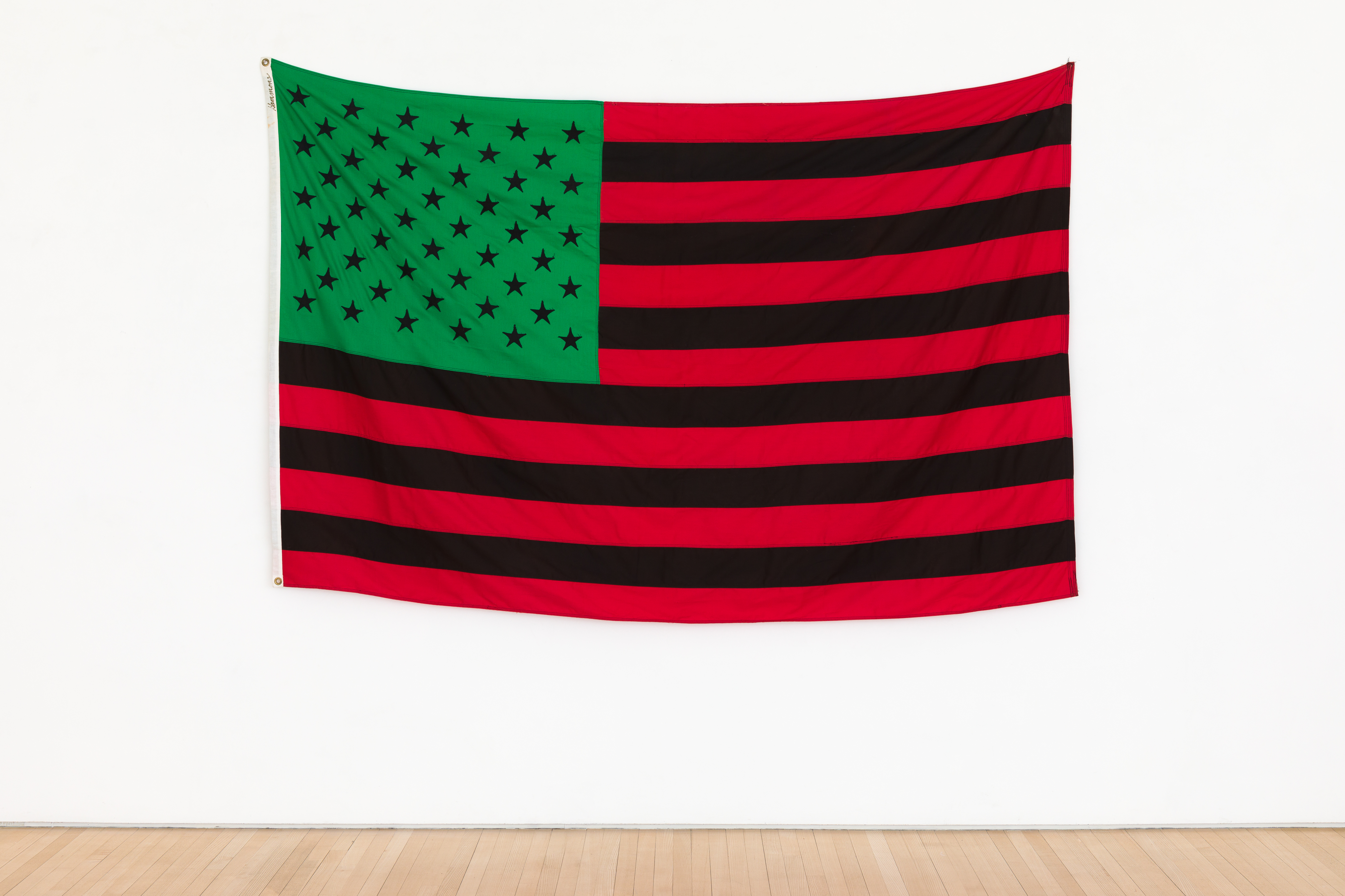 David Hammons - African-American Flag, 1990, dyed cotton