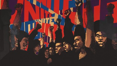 Image of Barbara Jones-Hogu's Unite (First State) screenprint, 1971
