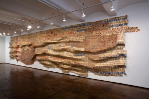 El Anatsui - Intermittent Signals, 2009, found aluminum and copper wire
