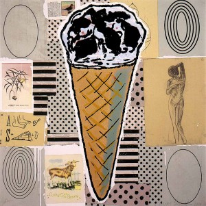 Donald Baechler - Untitled [Cone (A Feat of Strength)], 2000, silkscreen