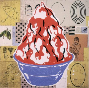 Donald Baechler - Untitled [Red Sundae (Well Fancy That)], 2000, silkscreen