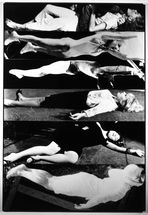 John Baldessari - Horizontal Women, 1987, photographs mounted on board