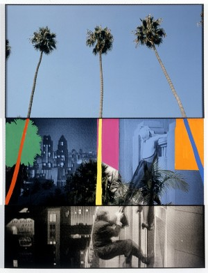 John Baldessari - Overlap Series: Palms (with Cityscape) and Climbers, 2000, three lambda prints with acrylic on Sintra