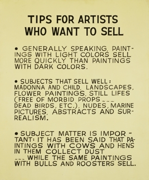 John Baldessari - Tips for Artists Who Want to Sell, 1966-68, acrylic on canvas