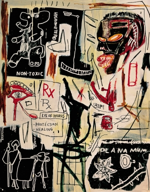 Jean‐Michel Basquiat - Melting Point of Ice, 1984, acrylic, oilstick and silkscreen