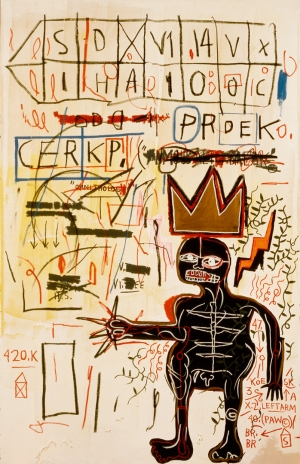 Jean‐Michel Basquiat - With Strings Two, 1983, acrylic, and oilstick on canvas