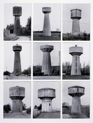 Bernd and Hilla Becher - Water Towers, 1972, nine black and white photographs
