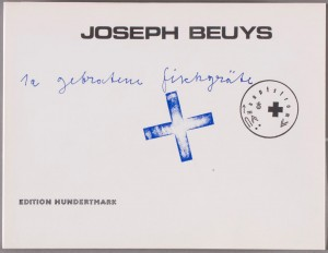 Joseph Beuys - Zwei weibliche Torsi, 1975, color lithograph on wove