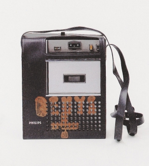Joseph Beuys - Konzert Mönchengladbach, 1970, cassette recorder, stamped with oil paint (Browncross)