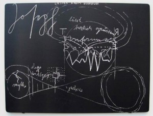 Joseph Beuys - Letter from London, 1977, lithograph on wove, mounted on wooden panel, stamped