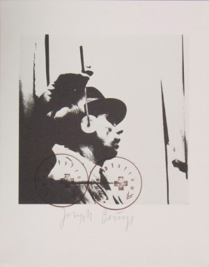 Joseph Beuys - L'udito, 1974, offset on wove