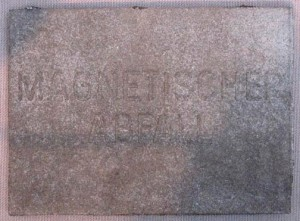 Joseph Beuys - Magnetischer Abfall, 1975, magnetic steel casting