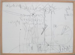 Joseph Beuys - Minneapolis-Fragmente, 1977, lithograph on wove and pencil, stamped