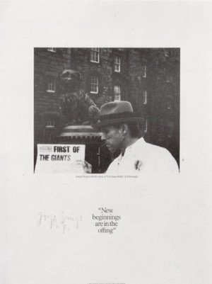 Joseph Beuys - New Beginnings Are in the Offing, 1981, offset on cardstock