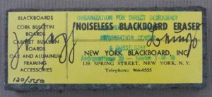Joseph Beuys - Noiseless Blackboard Eraser, 1974