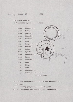 Joseph Beuys - Ostmensch, 1977, offset on yellow paper, stamped