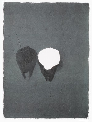 Joseph Beuys - Painting Version 1-90, 1976, oil paint and butter on wove with torn hole