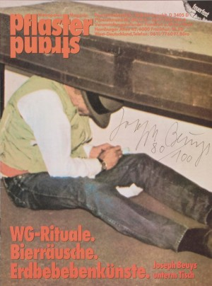Joseph Beuys - Pflasterstrand, 1984, magazine; signed and numbered in Roman numerals