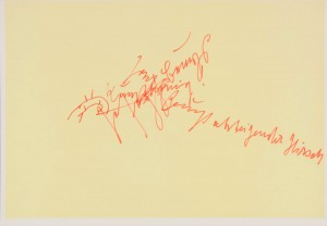 Joseph Beuys - sich selbst, 1977, offset print on cardstock