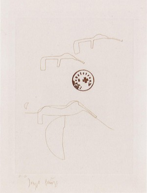 Joseph Beuys - Suite Schwurhand: Eiszeittiere, 1980, lithograph on white Arches wove