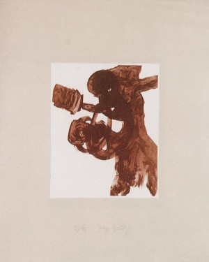 Joseph Beuys - Suite Schwurhand: Foetus, 1980, etching, aquatint and lithograph on paper laid down on gray Rives wove
