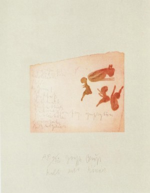 Joseph Beuys - Suite Schwurhand: Kalb mit Kinder, 1980, aquatint and lithograph on paper laid down on gray Rives wove