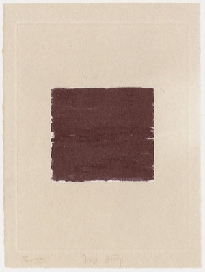 Joseph Beuys - Suite Schwurhand: Lumen, 1980, aquatint and lithograph on paper laid down on gray Rives wove