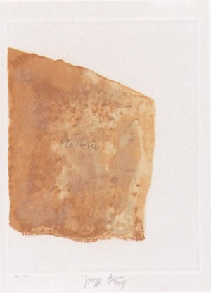 Joseph Beuys - Suite Schwurhand: Materie, 1980, etching, aquatint and lithograph on white Arches wove
