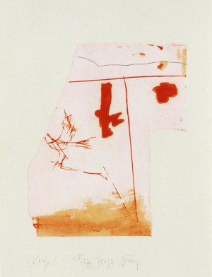 Joseph Beuys - Suite Schwurhand: Vogel, 1980, aquatint and lithograph on paper laid down on white Arches wove