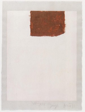 Joseph Beuys - Suite Schwurhand: Wandernde Kiste 4, 1980, lithograph on paper laid down on gray Rives wove